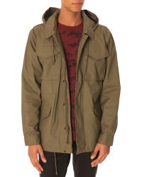 Obey Miggy M-65 Khaki Parka with Hood - Lyst