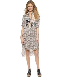 Rag & Bone Maspeth Shirtdress - Spruce Combo - Lyst
