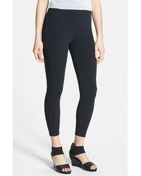 Eileen Fisher Organic Cotton Crop Leggings - Lyst