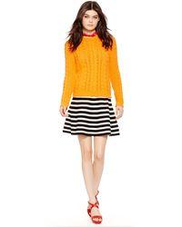 Polo Ralph Lauren Aran-Knit Crewneck Sweater - Lyst