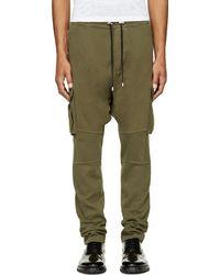 Balmain Khaki Cargo Lounge Pants - Lyst