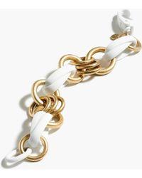 J.Crew Mixed Chain Bracelet gold - Lyst
