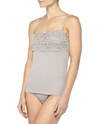Hanro Luxury Moments Widelace Camisole - Lyst