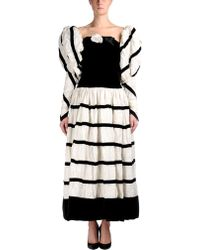 Chanel White Long Dress - Lyst