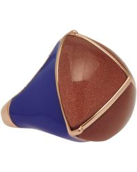 Eddie Borgo - Sandstone and Enamel Threesided Pyramid Ring - Lyst