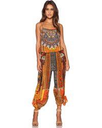 Camilla - Shoestring Strap Silk Jumpsuit - Lyst