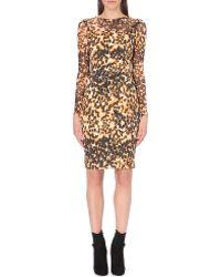 Karen Millen Animal Print Dress - Lyst