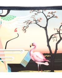Mary Katrantzou - Canvas Flamingo Pouch - Lyst