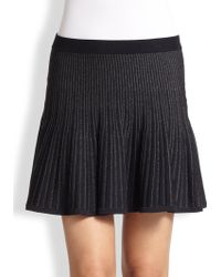 A.L.C. Ribbed Knit Flared Skirt - Lyst