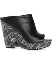 Sam Edelman Wedge Mules black - Lyst