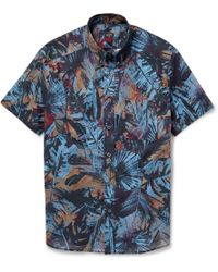PS by Paul Smith Printed Cotton-Poplin Shirt - Lyst
