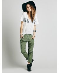 Free People Edith Washed Trouser - Lyst