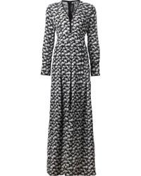 Yigal Azrouël Palm Tree-Print Dress - Lyst