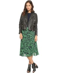 Whistles Dylan Leather Biker Jacket Black - Lyst