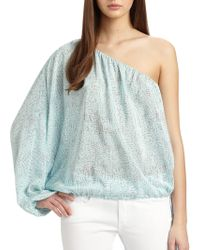 Rachel Zoe Shannon Silk One-shoulder Dolman-sleeved Top - Lyst