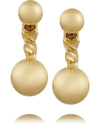 Giles & Brother Gold-Plated Earrings - Lyst