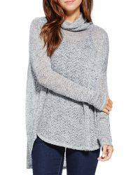 Two By Vince Camuto - Metallic Cowl Neck Jumper - Lyst