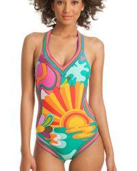 Trina Turk   Playa Azul Monokini   Lyst
