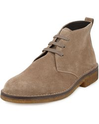 Vince Suede Crepesole Chukka Boot - Lyst