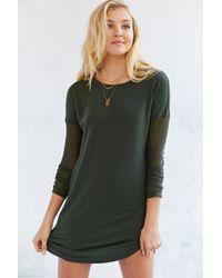 BDG Rib-sleeve Knit T-shirt Dress - Lyst
