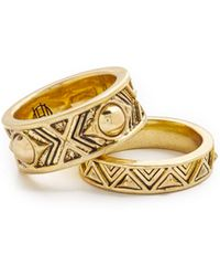 House of Harlow 1960 - Dorelia Stacked Ring Set - Lyst