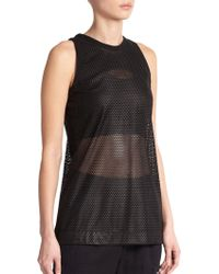 Helmut Lang Mesh Leather Tank Top - Lyst