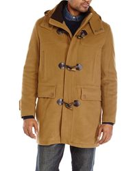 Cole Haan Wool Blend Toggle Coat - Lyst