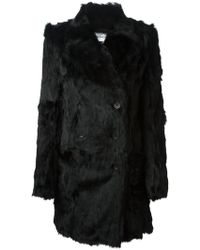 Ann Demeulemeester Blanche Double Breasted Fur Coat - Lyst