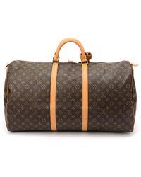 Louis Vuitton Monogram Keepall 60 Travel Bag - Lyst