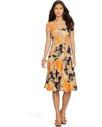 Ralph Lauren Paisley Drop-Waist Dress - Lyst