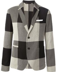 Neil Barrett Check Blazer - Lyst