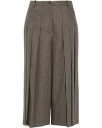 Michael Kors Pleated Stretchwool Culottes - Lyst