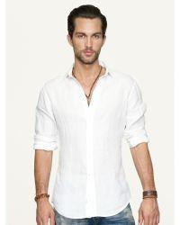 Ralph Lauren Black Label Linen Sloan Sport Shirt - Lyst