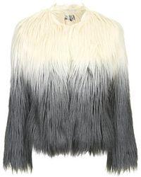 Topshop Ombre Faux Fur Jacket - Lyst