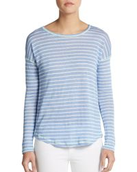 C&C California Striped Dropped Shoulder Top - Lyst