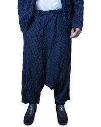 Yohji Yamamoto | Navy Pinstriped Trousers | Lyst