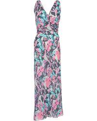 Versace Long Dress pink - Lyst