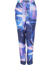 Matthew Williamson Marble Rainbow Silk Loose-fit Trousers - Lyst