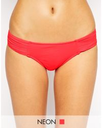 Seafolly Goddess Pleated Hipster Bikini Bottoms - Lyst