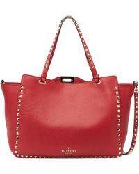 Valentino Medium Rockstud Shopper - Lyst