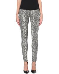 Hudson Nico Snakeprint Superskinny Midrise Jeans Sepia Serpent - Lyst