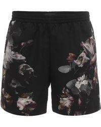 Alexander McQueen Floral Print Shorts - Lyst