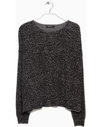 Mango Printed Sweater - Lyst
