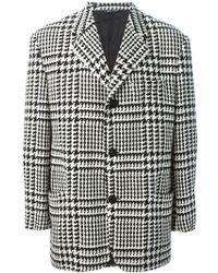 Versace Houndstooth Coat - Lyst