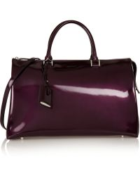 Jil Sander Large Patentleather Tote - Lyst