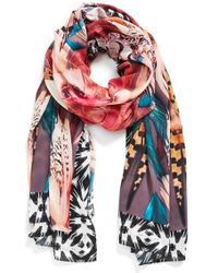 Nicole Miller Artelier - Nicole Miller 'shake That Tail Feather' Scarf - Metallic - Lyst
