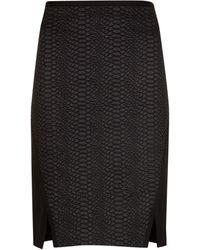 Ted Baker Black Textured Skirt - Lyst