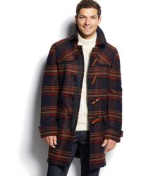 Tommy Hilfiger Special Hutton Checked Duffle Coat - Lyst