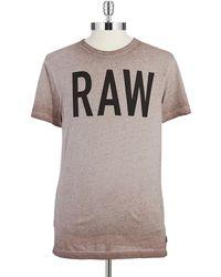 G-star Raw Logo T Shirt - Lyst