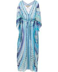 Emilio Pucci Geometric Print Sheer Dress - Lyst
